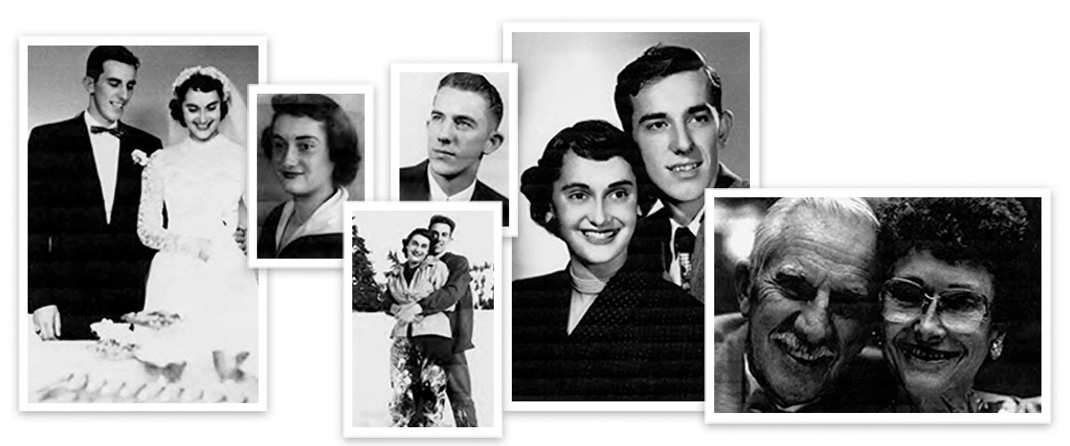 Collage of photos of Benita and Larry Offutt '54